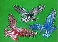 Envío gratis 1 unid aluminio Coche pegatinas águila con cinta adhesiva de doble cara en la parte posterior