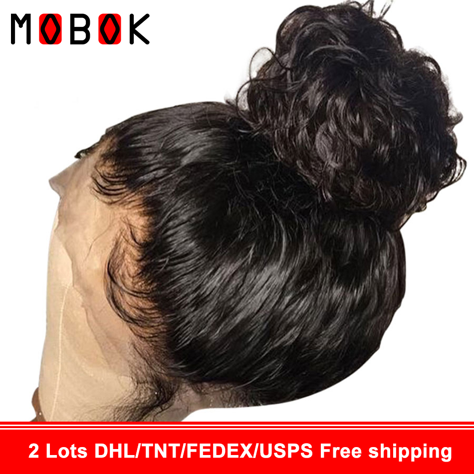 360 Lace Frontal Wig For Black Women Malaysian Straight Lace Front Human Hair Wig Pre Plucked With Baby Hair 150% Remy Lace Wig(China)