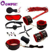 Oomph! 10pce/ Set sexy toys Adult Games sex Bondage Restraint Slave Toys for Couples Bondage Handcuffs Fun Adult Games Toys