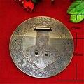 """1 pcs caixa de bloqueio fecho de bronze antigo Hasp rodada Camphorwood chinês flor trava de 5.9 """" ( 15 cm )"""