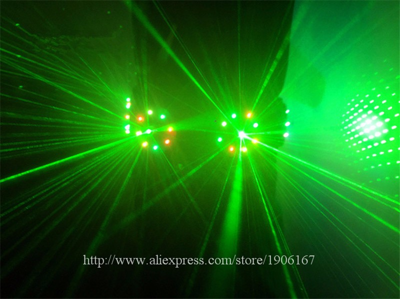 Colorful led green laser belt waistband girdle 14