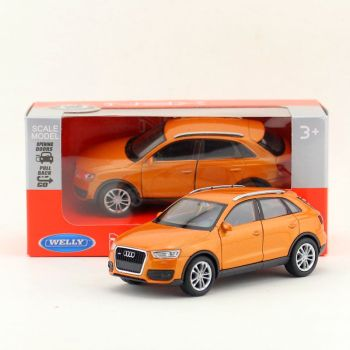 Brand New WELLY 1/36 Scale Germany AUDI Q3 SUV Diecast Metal Pull Back Car Model Toy For Gift/Kids/Collection image