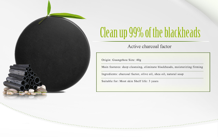 Bamboo Charcoal Handmade Soap Deep Cleansing Blackhead Remover Acne  Treatment Oil Control for Skincare