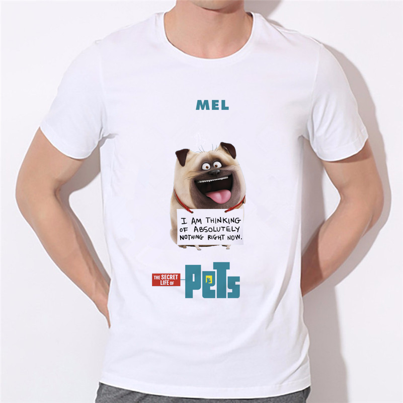 Gift Animal <font><b>Letter</b></font> Print The Secret <font><b>Life</b></font> of Pets T Shirts Boxer Dog Lover Pet Mens T-Shirt Tops Brand Funny Tees 29-3#