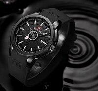 Модные часы для мужчин Бренд Военная Униформа NAVIFORCE аналоговые кварцевые 3D уход за кожей лица резиновые часы человек спортивные часы армия
