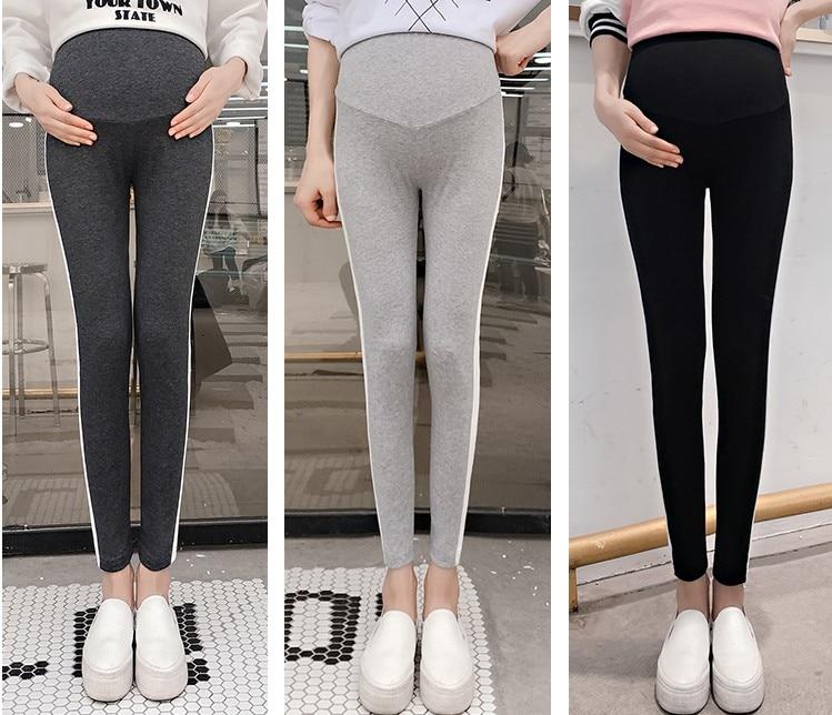 Демисезонный Новая мода Повседневное для беременных Леггинсы Эластичные штаны для беременных женщин летние резинка на талии пояс для беременных Одежда