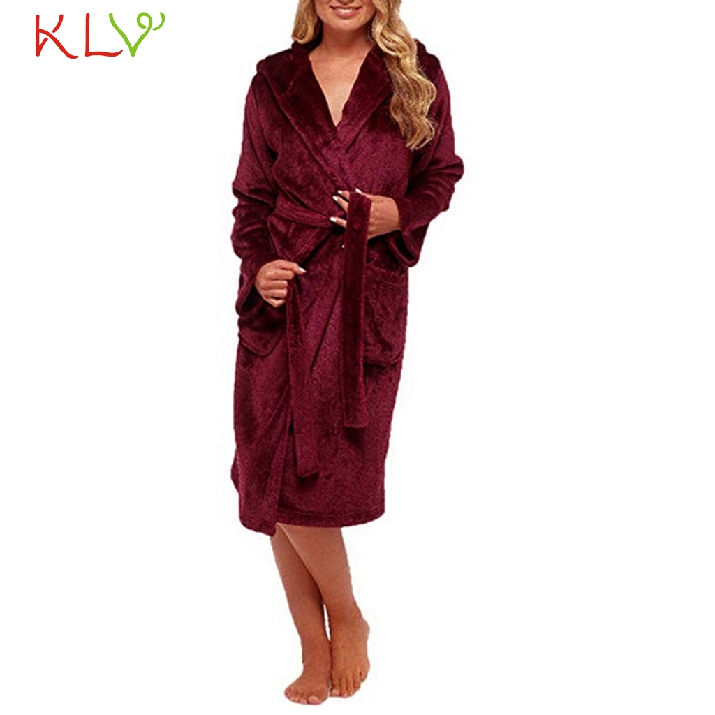 Women robe sexy 5xl winter plush lengthened shawl bathrobe home clothes long sleeved robe coat plus size femme sleepwear 18nov27