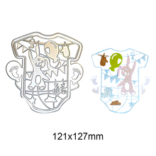 Cute Baby Clothes Bear Metal Cutting Dies Embossing Template Stencils for DIY Crafts Scrapbook Album Frame Photo Cards