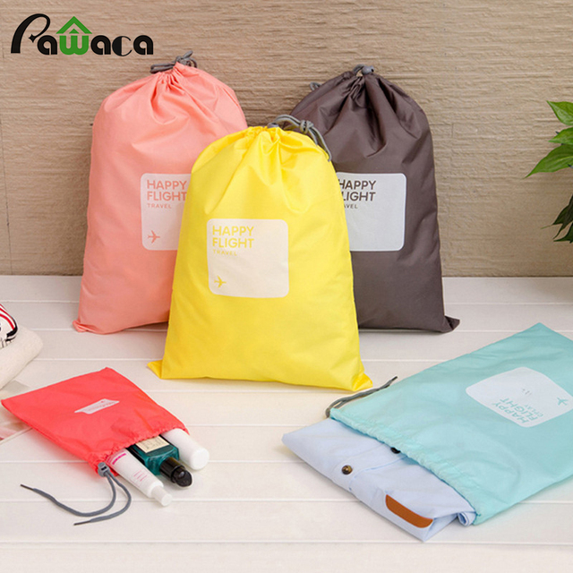 94f6af5b4d 4 different size Drawstring Bags   Ditty Bag   Cord Bag Storage Travel  Waterproof Storage Bags Cosmetic Underwear Organizer