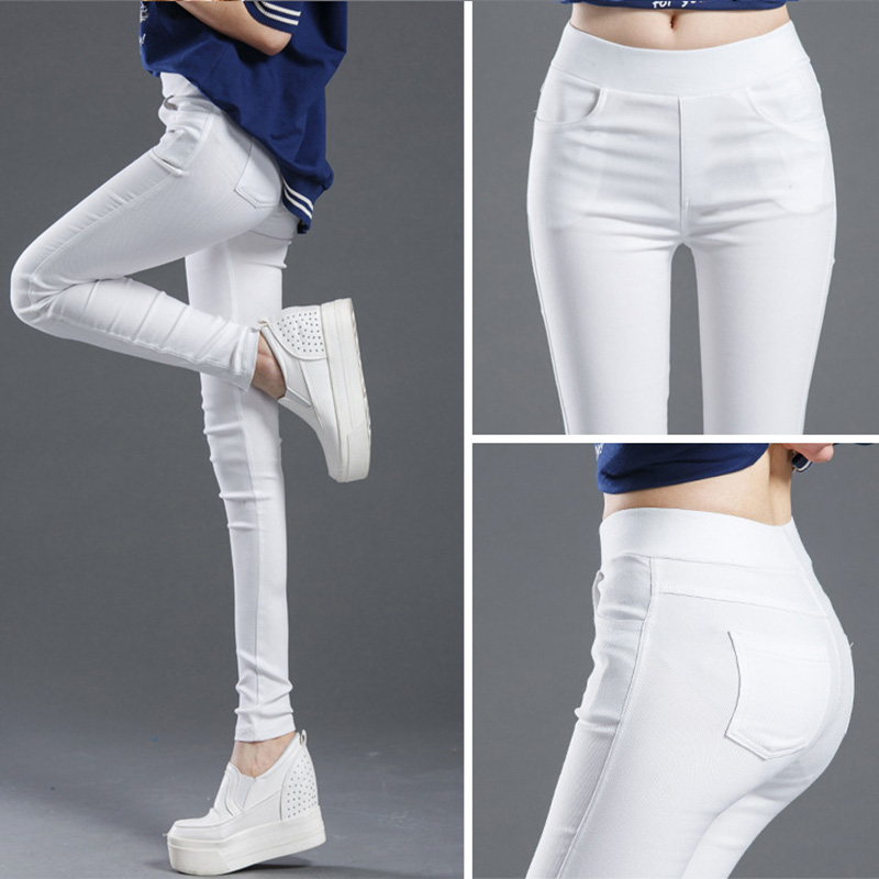 2019new High Waist Pencil Woman's Pants Autumn Black Leggings Elastic Trousers For Women Female Fashion Clothes Woman