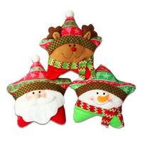 1pcs Cartoon Snowman Cushion Cover Christmas Pillow 40*25cm Pillows Office Car Home Decorate Sofa Cushions Free Postage