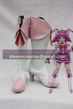 Custom-made Cheap Smile Pretty Cure Cure Happy Cosplay Boots Cosplay Shoes Halloween(China)