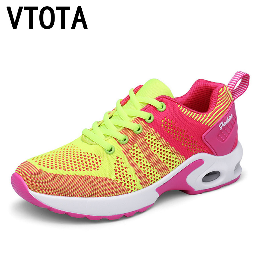 VTOTA Women Casual Shoes Platform Wedges Shoes Women Sneakers Mesh Lace Up Height Increasing Ladies Shoes Sapatos Femininos H1 women sandals 2017 summer style shoes woman wedges height increasing fashion gladiator platform female ladies shoes casual