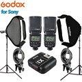 Фотовспышка Godox TT600 X1T-S 60x60 см софтбокс для вспышки 2 м осветительная подставка комплект с s-образным держателем кронштейна для фотостудии Sony