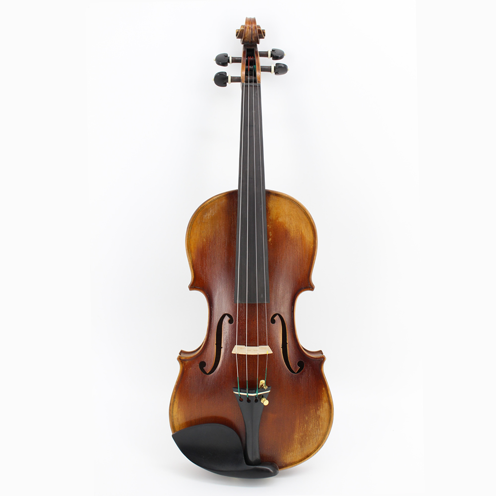 Limited Supply Full Size High-grade Flamed Maple Professional Violins Master Handmade Antique Violin w/ Full Set Parts
