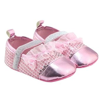 Baby PU Leather Princess Shoes Bright Toddler Slippers Baby Girl Soft Sole First Walkers Baby Shoes  Обувь