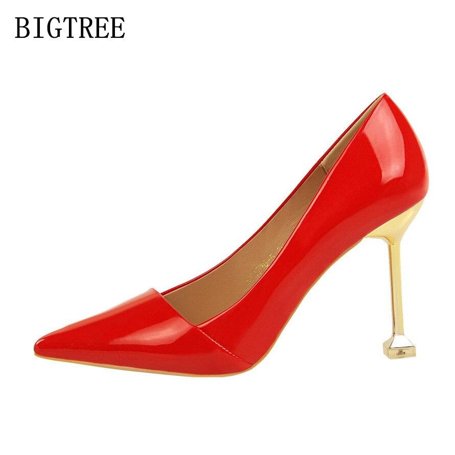 Rojo Alto Bigtree Salto Bombas 1 Nude 6 Tacones Rosa Mujer Elegante Lujo 7 4 De 3 2 Zapatos Diseñador 2018 5 Extremo Marca Tacón rfrw7v