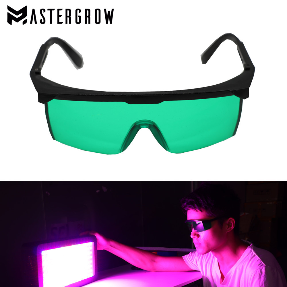 Professional LED Grow Light Room Glasses UV Polarizing Goggles For Grow Tent Greenhouse Hydroponics Plant Eye Protect Glasses