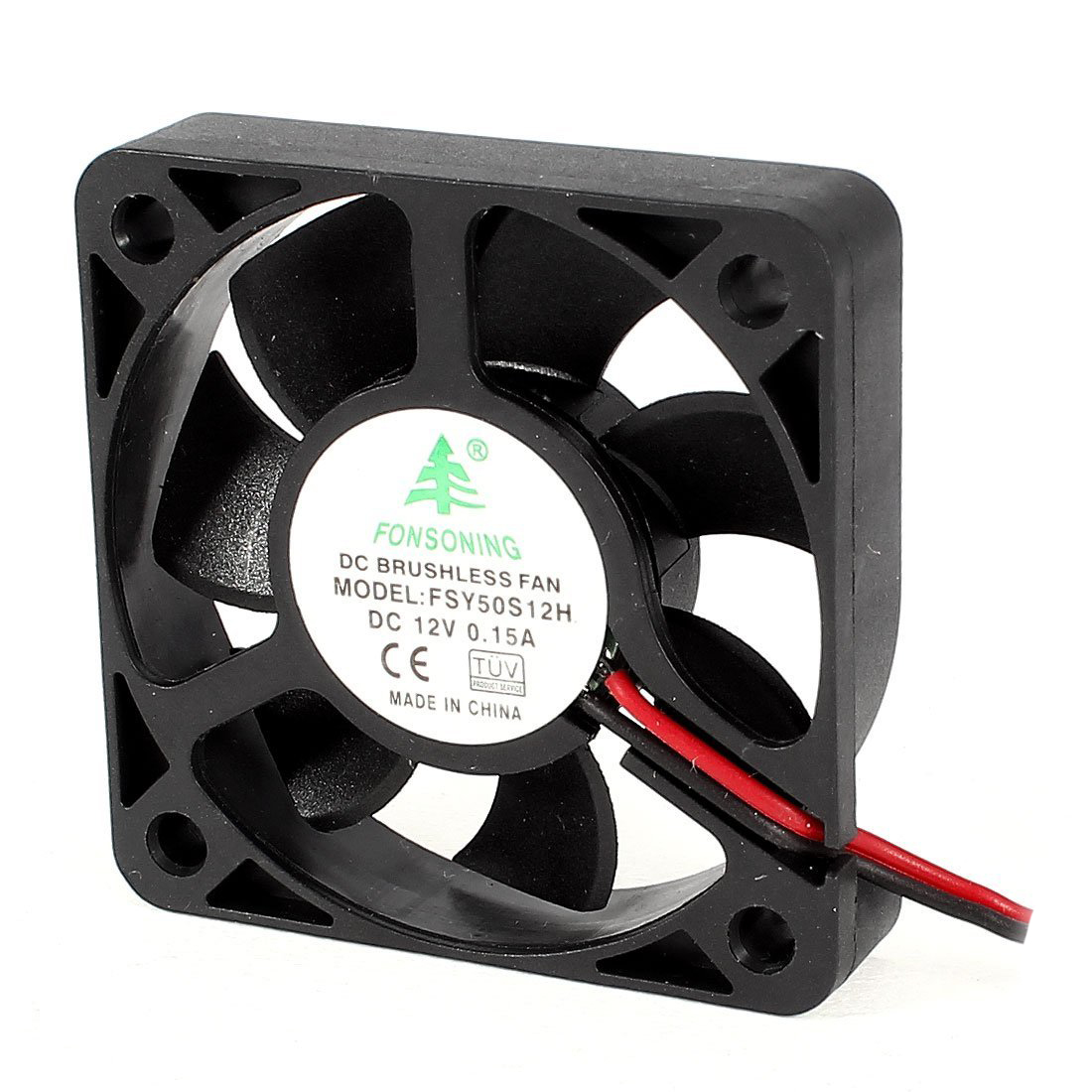 FONSONING FSY50S12H 50mm x 10mm 2Pin 12V DC Brushless PC Case Cooling Fan gdstime 10 pcs dc 12v 14025 pc case cooling fan 140mm x 25mm 14cm 2 wire 2pin connector computer 140x140x25mm