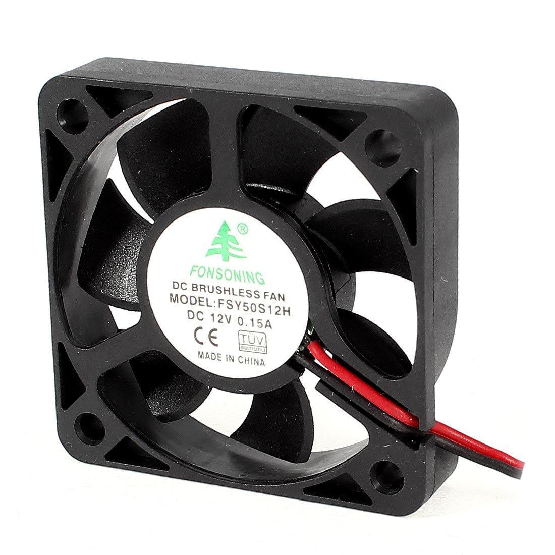 FONSONING FSY50S12H 50mm x 10mm 2Pin 12V DC Brushless PC Case Cooling Fan 5 pieces lot dc 12v 2pin 140 x 140 x 25mm 14025s pc computer case heatsink cooling fan