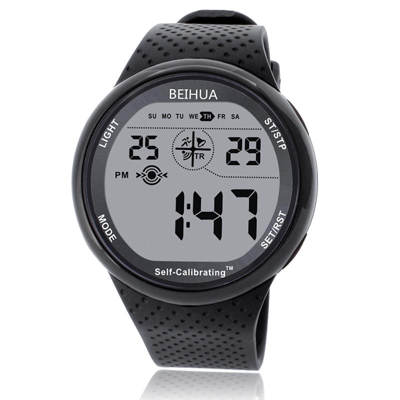BEIHUA Men Sports Watch Digital Self Calibrating Internet Time Waterproof 100m Multifunctional Swim Diver Student Outdoor Watch