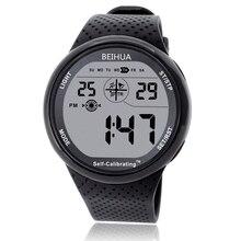 BEIHUA erkek spor saat dijital kendinden kalibre Internet zaman su geçirmez 100m çok fonksiyonlu yüzmek dalgıç öğrenci açık izle