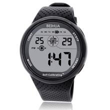 BEIHUA الرجال ساعة رياضية الرقمية الذاتي معايرة وقت الإنترنت مقاوم للماء 100 متر متعددة الوظائف السباحة غواص طالب ساعة في الهواء الطلق