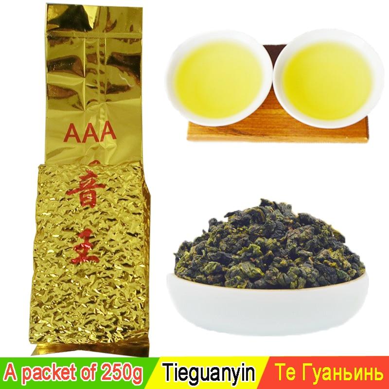 250g de grau Superior Chinês chá Oolong tieguanyin chá tie guan yin chá oolong o alimento verde novos produtos de cuidados de saúde atacado