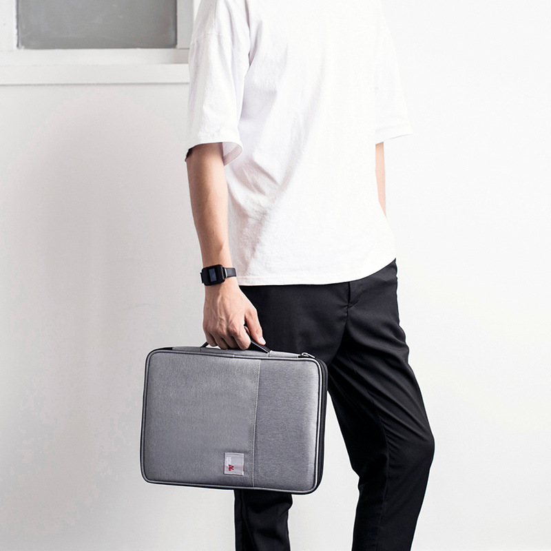 MIRUI Multi-functional A4 Document Bags Filing Products Portable Waterproof Oxford Cloth Storage Bag For Notebooks Pens Computer