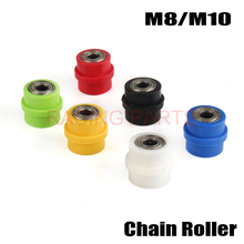 Motorcycle Drive Chain Pulley Roller Slider Tensioner Wheel Guide For Pit Dirt Street MTB Road Bike Bicycle Cycling 8mm 10mm