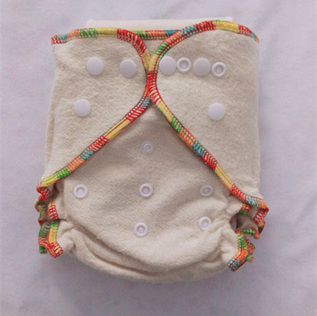 Free Shipping Cloth Diapers Hight Quality Hemp Organic Cotton Fitted Cloth Diaper TWO Inserts One Size