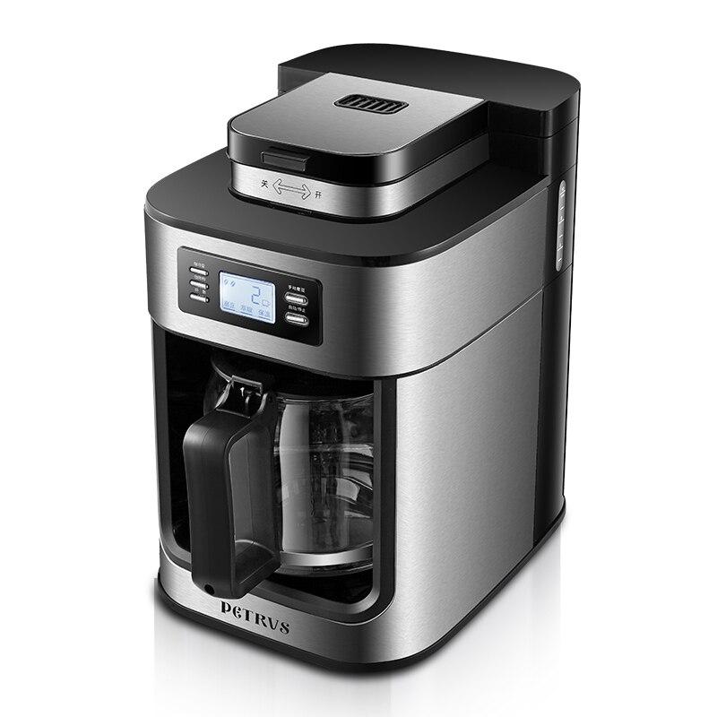 Cafeteira Café Machine Ménage Automatique Broyage Haricots Broyage Bouillie Américain Bouillie Machine À Café Pot