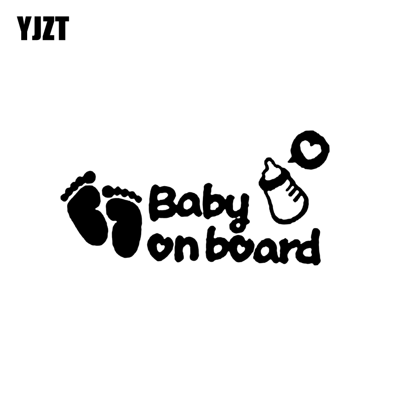 YJZT 11,5 см * 5,9 см ребенок на борту след винил автомобиля Стикеры Наклейка украшения безопасный знак черный, серебристый цвет C10-00687