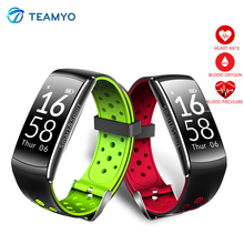 Teamyo fitness bracelet IP68 Smart band blood pressure Heart Rate Monitor Cicret bracelet Fitness Tracker watch for Ios Android