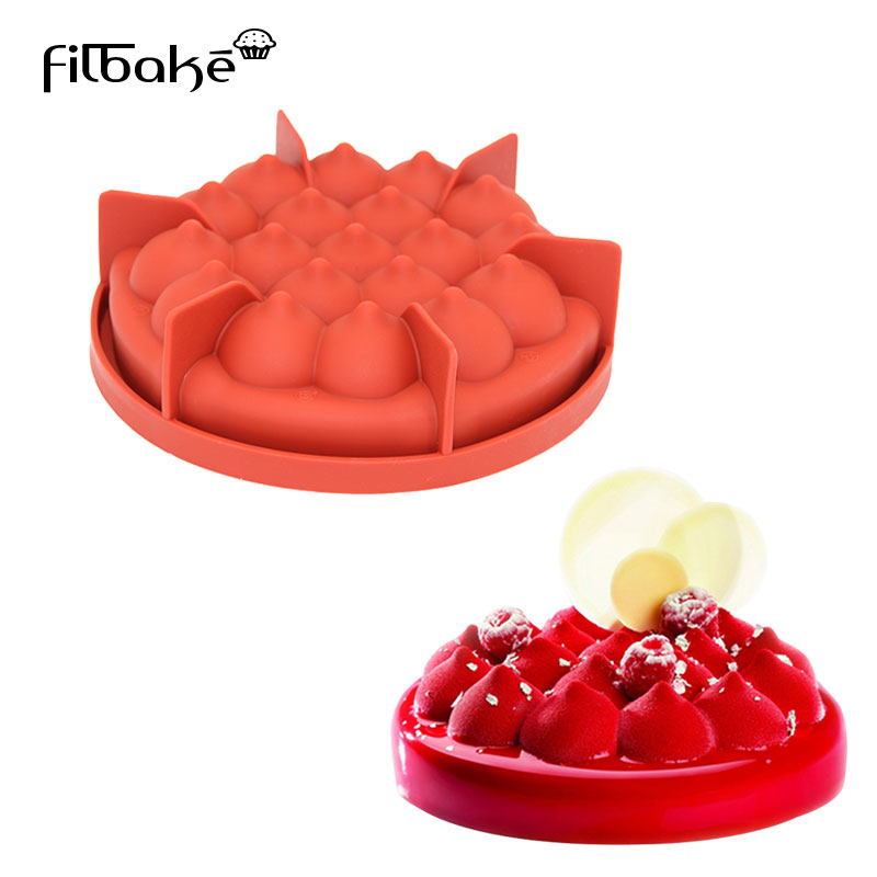 FILBAKE 3D Silicone Pastry Round Hill Pagoda Shaped Cake Mold For DIY Mousse Bread Dessert Molds Baking Moulds Decorating Tool