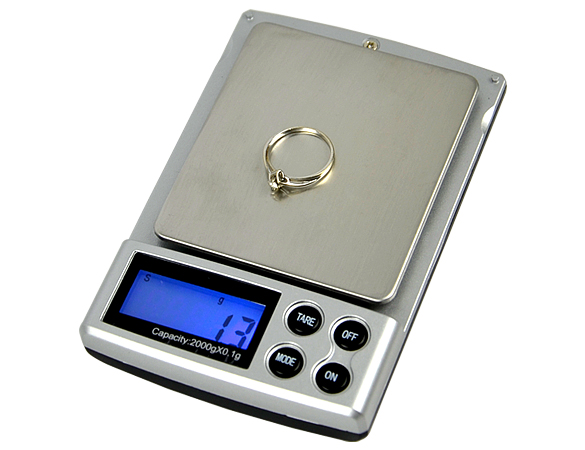 2000g x 0.1g Pocket Electronic Digital Jewelry Scales Weighing Kitchen Scales Balance Scale With 5 Digit LCD Display