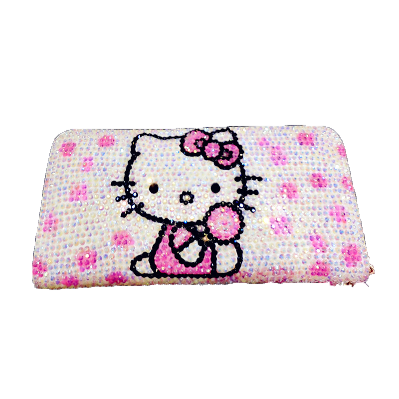1dbd1a68d ... Hello Kitty Diamond Cute Wallet Children Cartoon KT Cat Personality  Kitty Cat Money Folder Lovely Bright ...