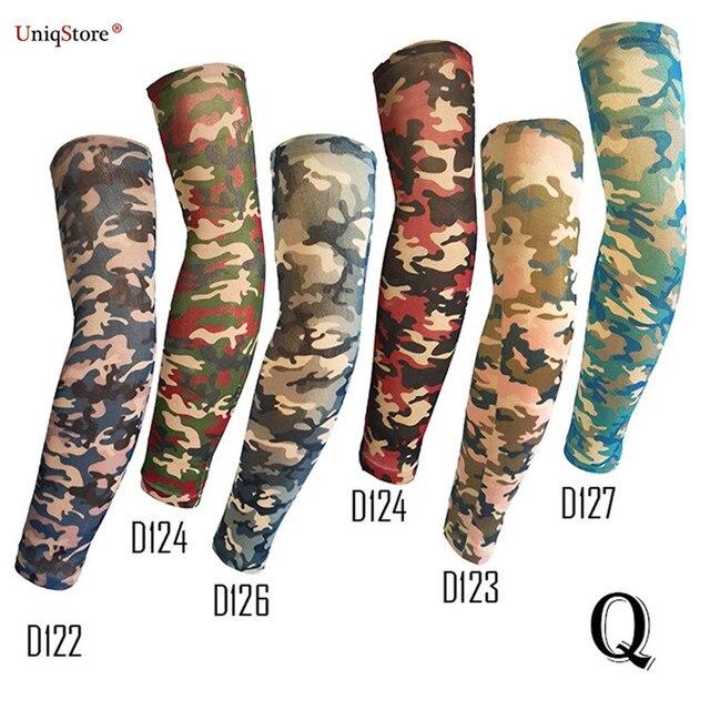 Uniqstore 6PCS Temporary Fake Slip On Tattoo Arm Sleeves Fake Camo ...