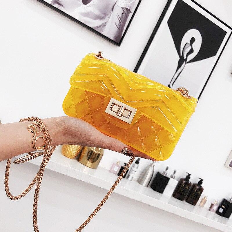 Цепь желе посылка 2018 женские модные Универсальные сумка s повседневная сумка Пластик ...