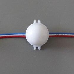 Adresowalnych led inteligentny moduł; 30mm średnicy; IP68; 12 V; UCS1903 IC  0.72 W;  pełny kolor RGB  mleczna pokrywa; z przezroczyste przewody