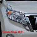 2014 del Frente del Cromo Cubierta de La Lámpara de Luz Para Toyota Land Cruiser Prado FJ 150 Accesorios