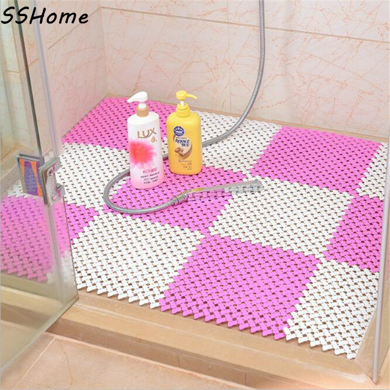 25x25cm Jointed Anti slip Bathroom Mat Bright Candy Color ...