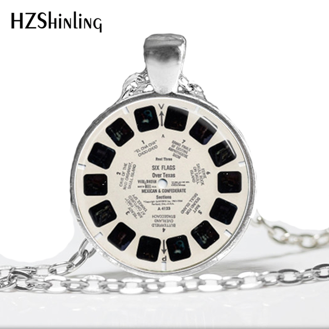 2016 Glass Dome Necklace View Master Necklace Vintage Viewmaster Reel Viewfinder Eighties Fads Techie Art Pendant Necklace HZ1