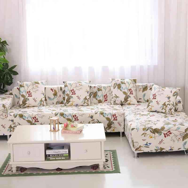 US $60.0 |Corner/L shaped Sectional Sofa Cover 2pcs/set Fashion Printed  Stretch Chaise Cover Non slip Couch Cover All inclusive Slipcovers-in Sofa  ...