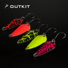 OUTKIT 5pcs Mix Colors 3cm 3g Fishing Spoon Lure Swim Bait Isca Artificial Trout Lure Pesca Fishing Tackle Leurre Truite Spoons