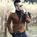 Winter leather jackets Men Faux Fur Coats Men's Leather Jacket Casual Motorcycle Leather Jacket Thicken Overcoat For Man
