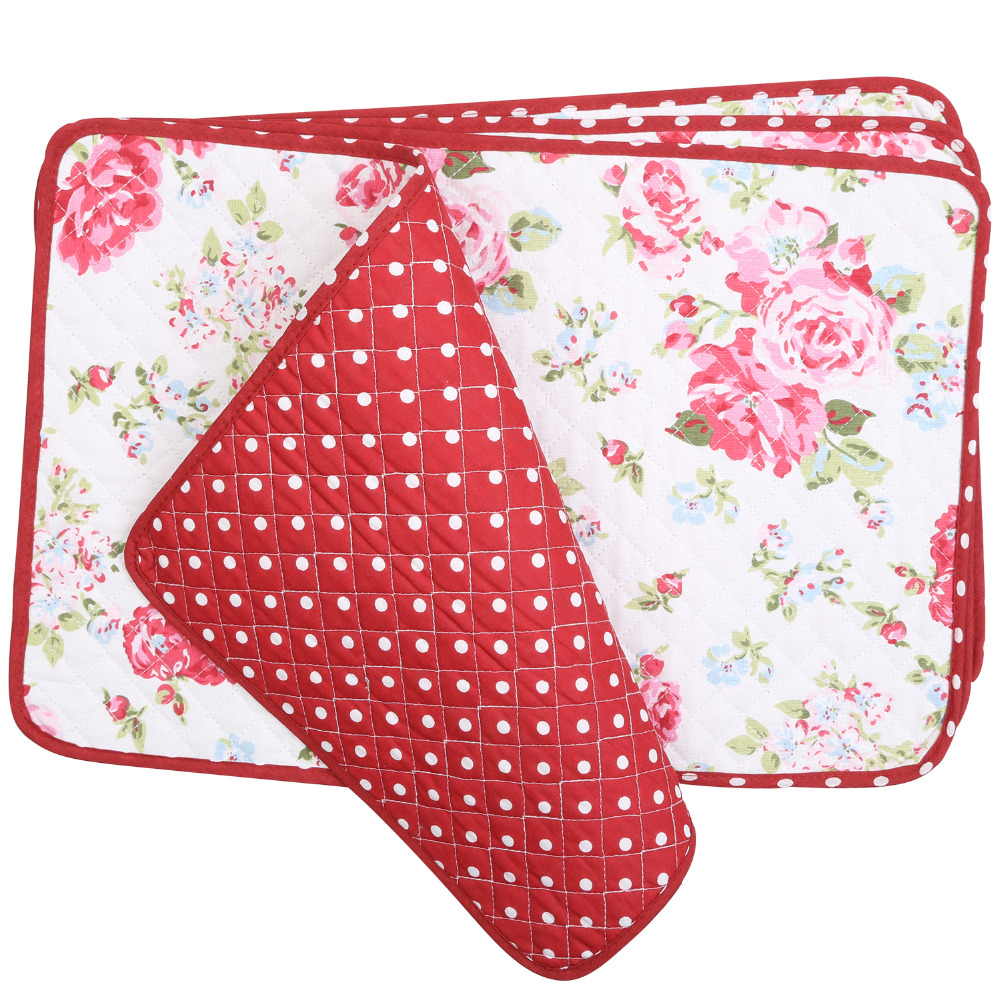 Neoviva Cotton Fabric Quilting Placemats for Dining Room  : Neoviva Cotton Fabric Quilting Placemats for Dining Room Set of 4 Floral Lollipop Red from www.aliexpress.com size 1000 x 1000 jpeg 415kB