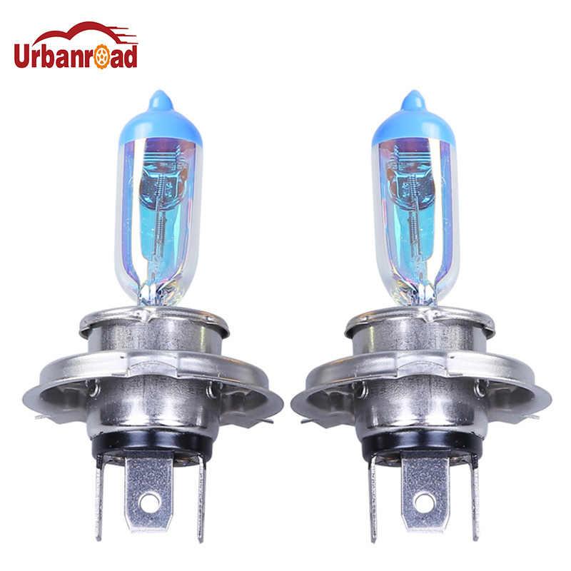 Urbanroad 1 шт. автомобиль галогенная лампа H4 (P43t) 12 V/55/60 W для универсальная запасная внутренняя часть Радуга Цвет головной светильник тумана светильник