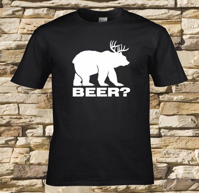 Fun Shirts Short Men Beer Gifts For Men Funny Beer Shirts Beer Deer Bear  Black Design