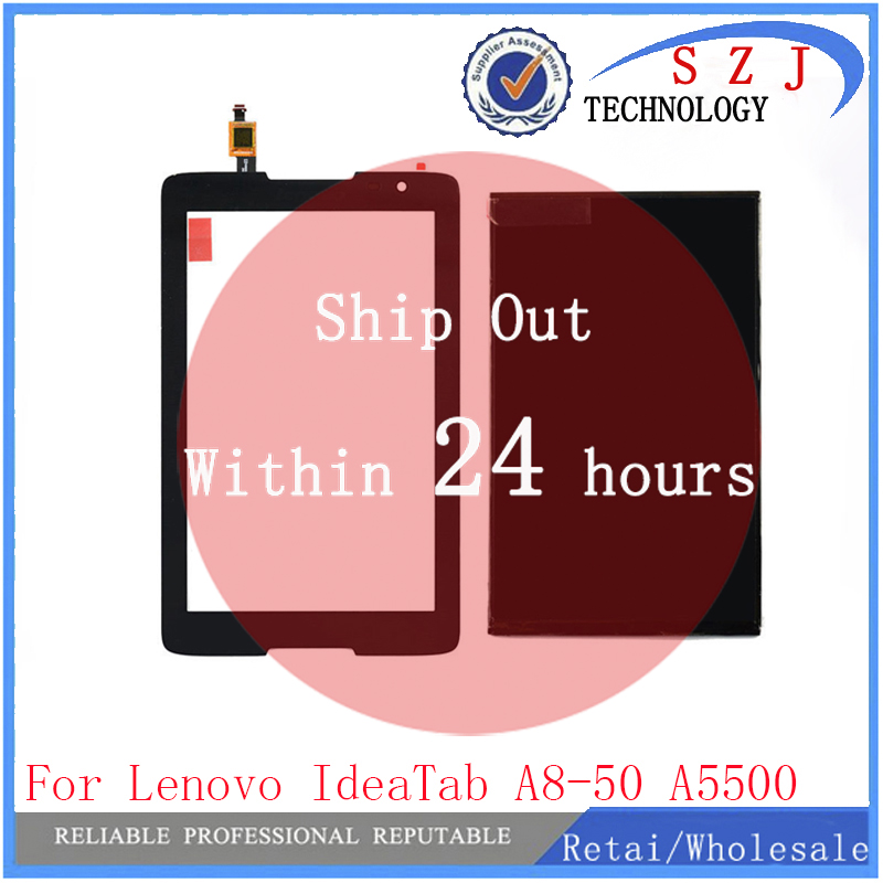 New 8'' inch For Lenovo IdeaTab A8-50 A5500 A5500-H LCD Display+Touch Screen Digitizer Glass Sensor Panel Replacement replacement lcd display for lenovo a8 50 tablet a5500